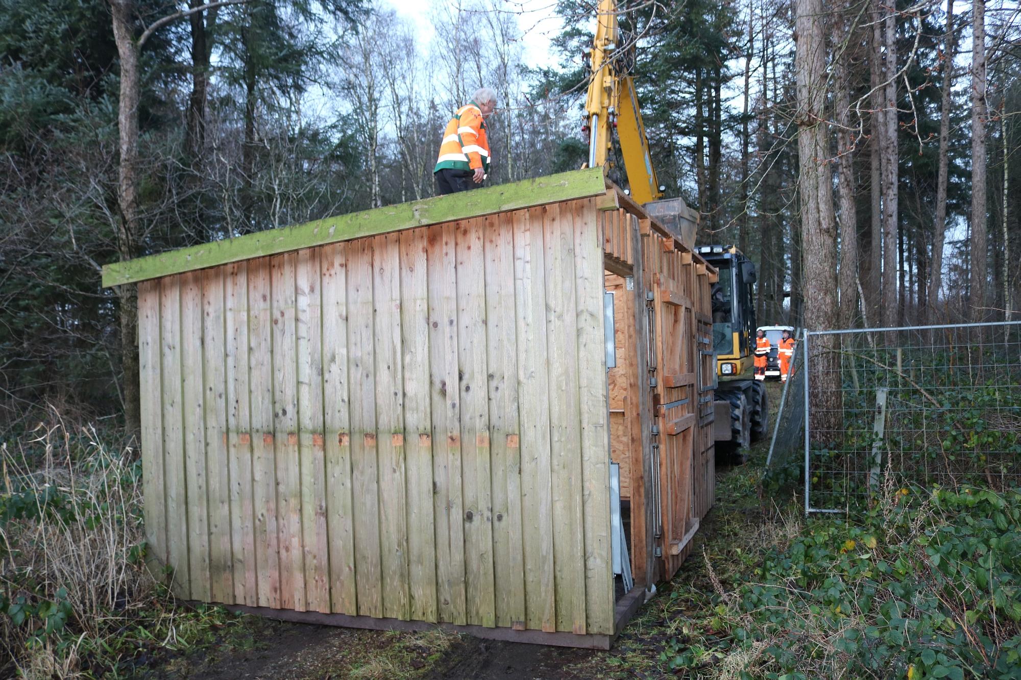 20191218 Umsetzung Hütte Wildgehege 1