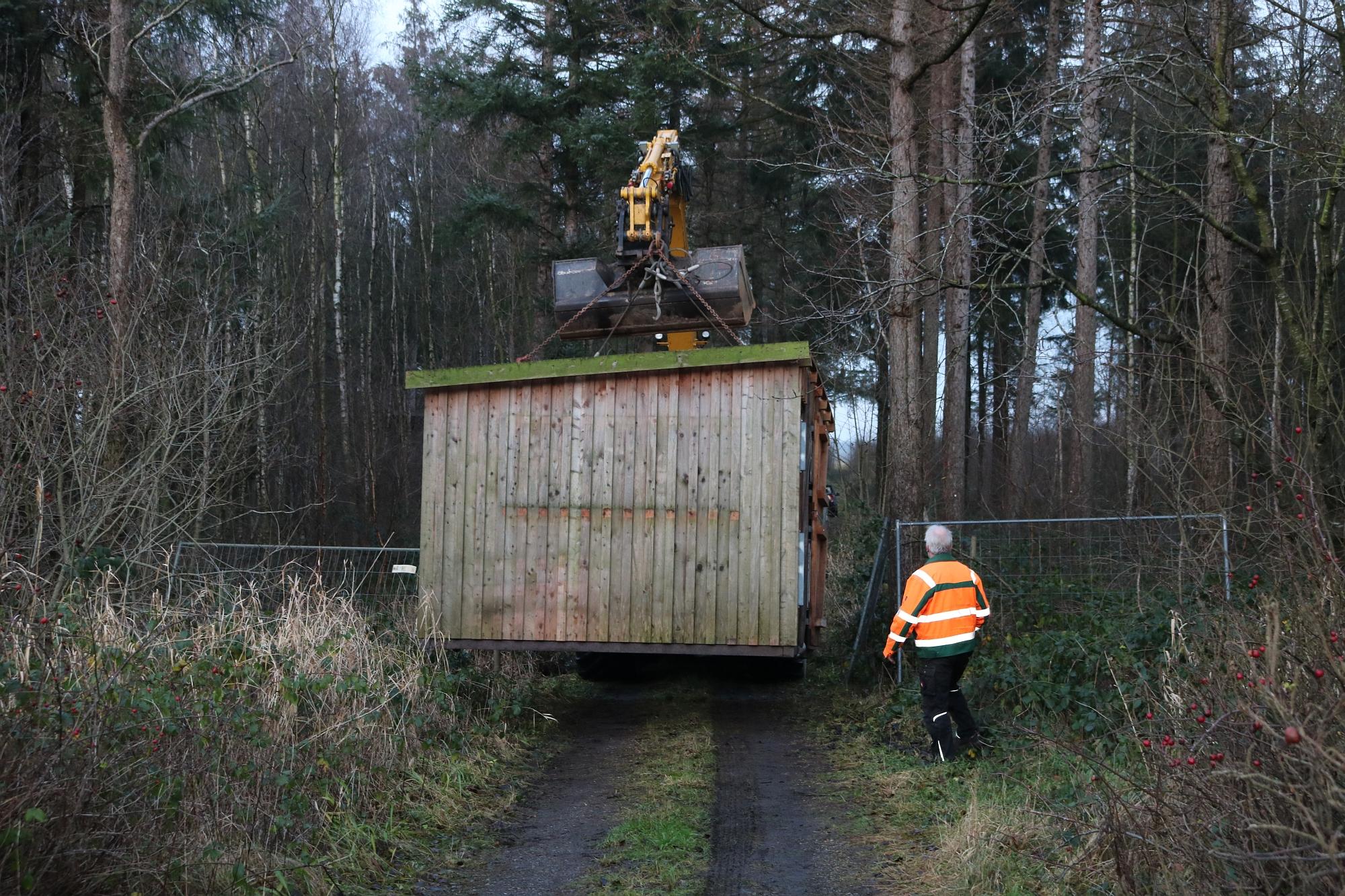20191218 Umsetzung Hütte Wildgehege 2