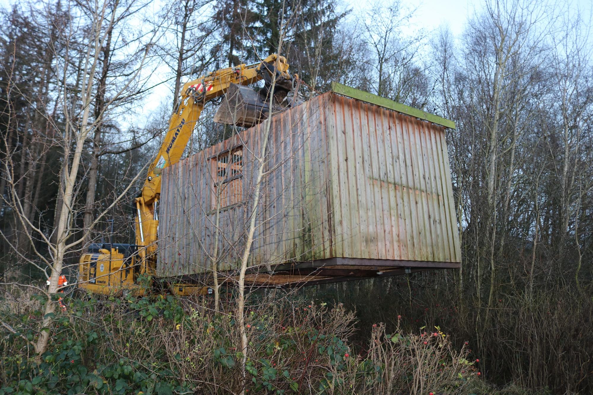 20191218 Umsetzung Hütte Wildgehege 3