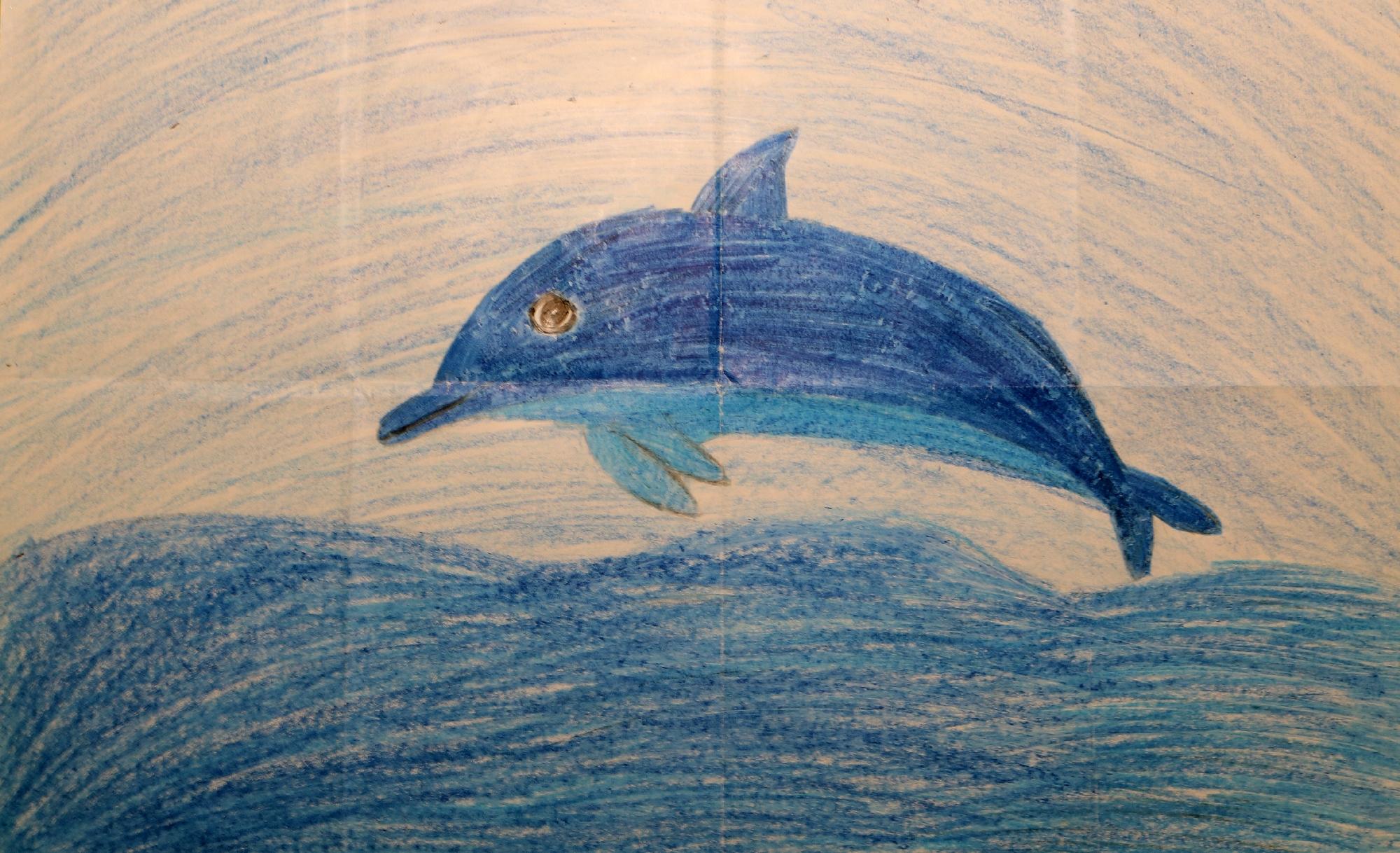 2020 Malwettbewerb Ein Delfin ohne Corona (Mahdiya 10 Jahre) web