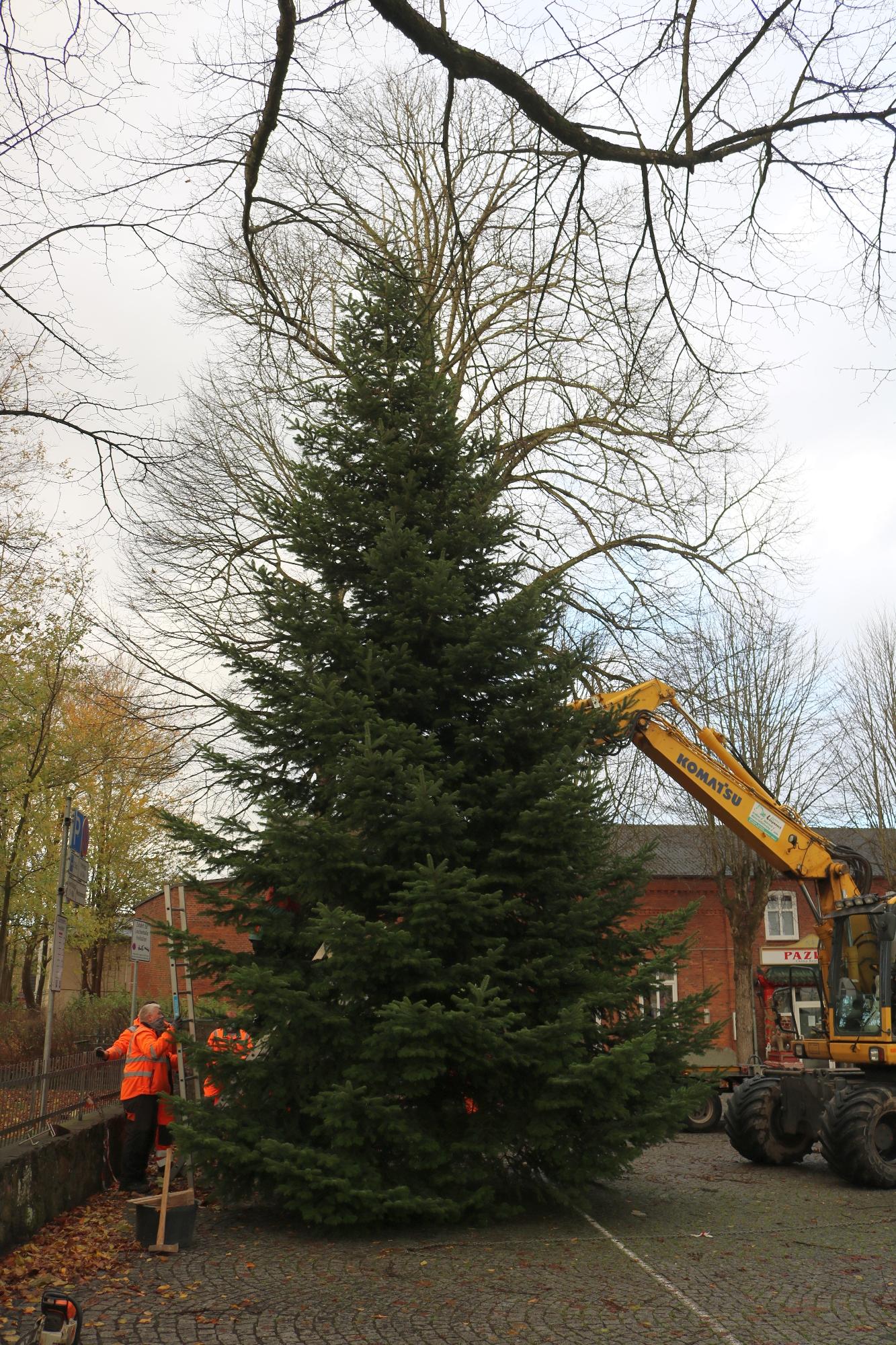 20201123 Weihnachtsbaum Kirchplatz A 12