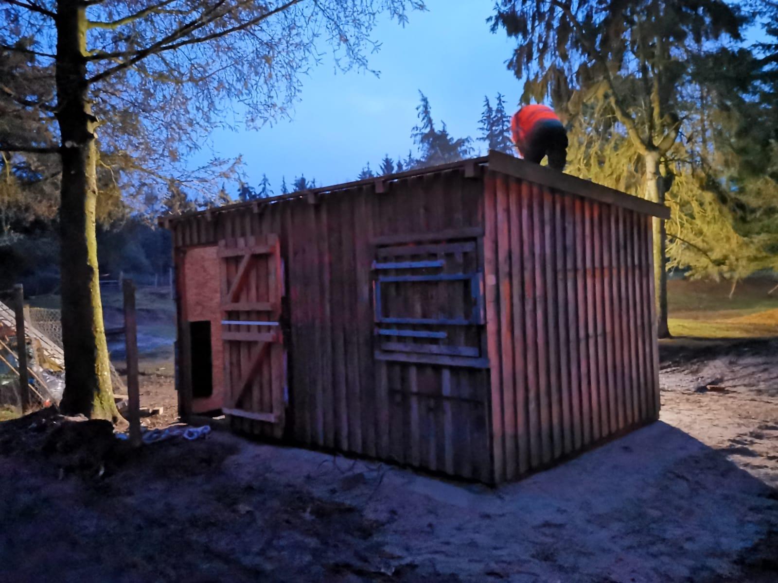 Damwildgehege Hütte Claudia Larsen 1