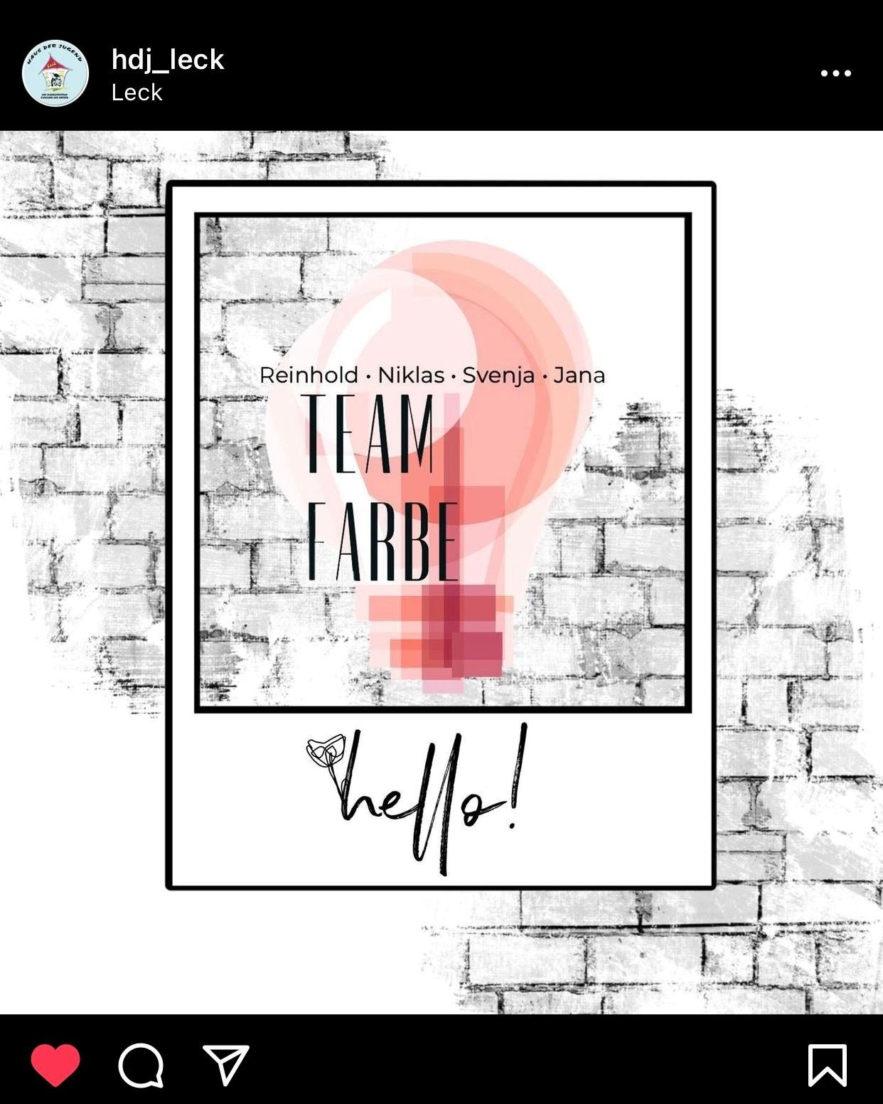 Team Farbe sagt hello